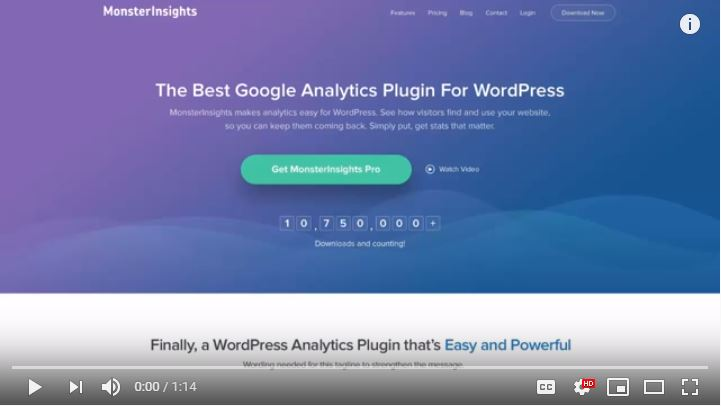 Monster Insights Google Analytics Video